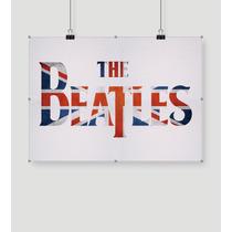 Beatles Bandera Britanica 90x50 Lienzo En Tela