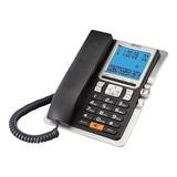 Teléfono Fijo Select Sound 8028 Negro Y Plateado