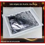 Paquete 500 Hojas De Plata Imitación 16x16cm Envió Inmediato