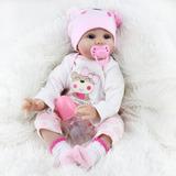 Bebé Reborn Muñeca Simulado Lindo Tacto Suave Silicona Rea