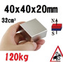 Xto Iman Neodimio 40mm X 40mm X 20mm Super Potente