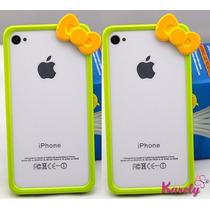 Bumper Para Iphone 5/5s Moño De Kitty Diferentes Colores