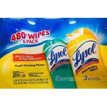 Lysol Disinfecting Wipes Toallitas 480 6 Pack