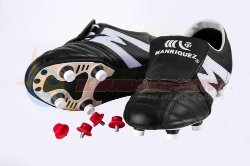 2159-zapato Fútbol Manriquez Mid Sc 6 Tacos Pro Ngo bco b96eac2e98d66