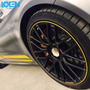 Elegante Doble Tira Protectora Para Rines De Auto, Amarilla