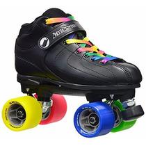 Patines Jackson Skates Negro/rainbow 4 Usa