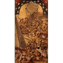 Lienzo Cuadro Tabla 16 De 22 Conquista Imperio Azteca 90x50