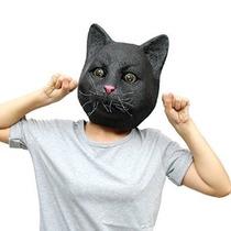 Máscara De La Cabeza Del Gato Creepyparty Deluxe Novedad Fie