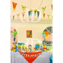 Fiesta Temática Mesa De Dulces Infantil Bajoterra