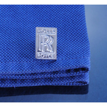 Mancuernillas Logo Rolls Royce Fina Plata 925 A45-5