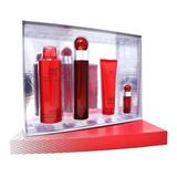 Set 360° Red 4pzs 100 Ml Edt Spray + Shower Gel 90 Ml + Deso