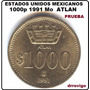 1000 Pesos 1991 Mo Atlan (prueba)