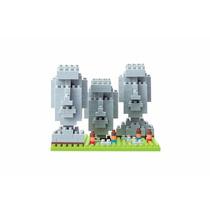 Figura Armable , Nanoblock Estatuas Moai Chile