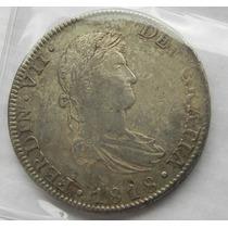 Moneda Mexico 8 Reales Fernando V I I 1818 J J Excelente