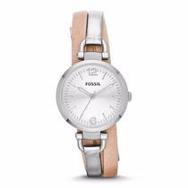 Reloj Fossil Es3409 - Extensible De Cuero - Wr 50m - Cfmx