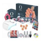 Kit Organic Nails Acrílico Uñas Lamp 48w Gelish, Finish