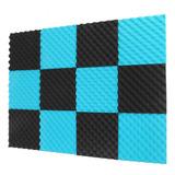 12 Panel Acústicos Espuma 30x30x5 Cm Estudio Insonorizado