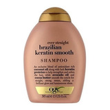 Ogx Shampoo Cabello Dama Mujer Brazilian Keratina No Sulfato