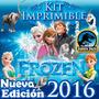 El Mejor Kit Imprimible Frozen Y Fever Invitaciones Candybar