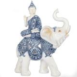 Buda Yoga Mudra Tibetano Elefante Azul Abundancia Suerte