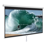 Pantalla Manual De Proyeccion, 120'' Pulgadas, Hd 16:9 Alta Definicion, Retractil