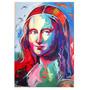 Cuadro Mona Lisa En Pintura Acrílica. Colores Mixtos.