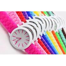 Lote De 7 Relojes De Silicona Coles Variados Para Dama