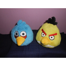 Lote 2 Peluches Angry Birds Con Sonido 13 Cms