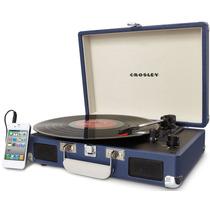 Tornamesa Crosley Tocadiscos De Vinyl Azul Entrega Inmediata