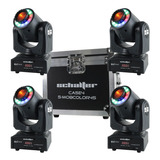 4 Cabezas Moviles Gobos Led 45w Spot Beam + Aro Color Case