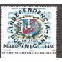 Estampilla Independencia Dominicana 1989 Nueva