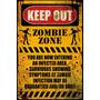 Mantener Fuera Del Cartel - Zombie Maxi 61x 91.5cm Humor Ter