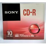 Cd-r Virgen Sony Con Estuche Individual 10pz Original