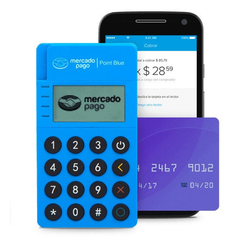 Point Blue - Lector De Tarjetas Mercado Pago Bluetooth