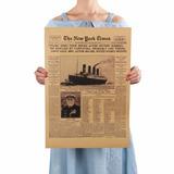 Poster Cartel Vintage Noticia Periodico Naufragio Titanic