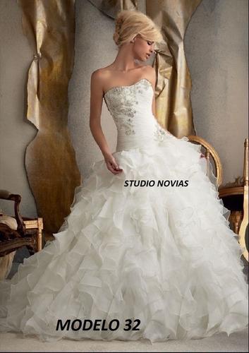 Vestido Novia Nuevo Barato Bonito Elegante Corte Princesa 32