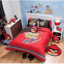 Edredon 2 Vistas Recamara Niño Joven Angry Birds Individual