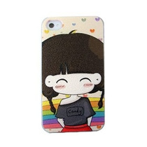 Paq. C/5 - Dtc - Generico - Case Iphone 4 Carbono Candy Arco