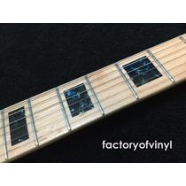 (*) Inlays Stickers Blocks Tipo Les Paul Negro Guitarra