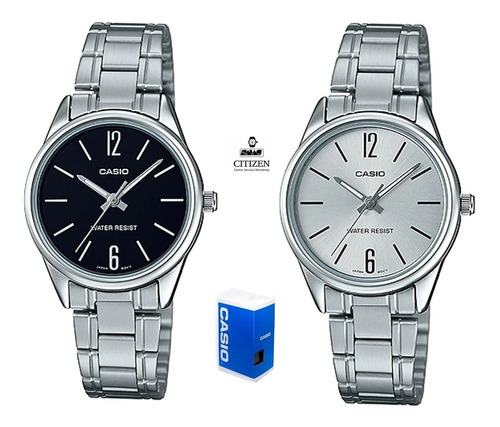 Reloj Casio Quartz Ltpv005 Mujer Acero *watchsalas* Full en