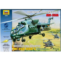 Zvezda Helicoptero Mi-35m Hind E Sovietico 1/72 Armar Pintar