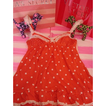Victorias Secret The Caramel Polka Dots Cotton Vestido Playa