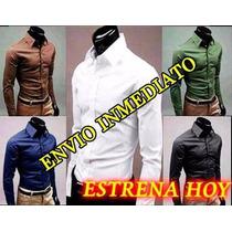 Camisas Vestir Caballero, Camisa Moda Slim Fit Formal