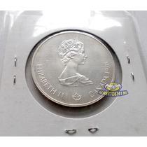 Moneda De Plata 5 Dolares Olimpiada Montreal 1976