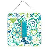 Letra I Flores Y Mariposas Del Trullo Azul De La Pared O Pue