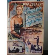 Poster Concierto Para Una Lagrima Olga Zubarry Julio Porter