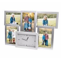 Portaretrato Para 5 Fotos Con Reloj Incluido! A Meses