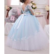 Abaowedding Vestido Para Niñas Elegante Fiesta Boda Reina En