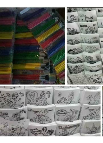 100 Pellon Para Colorear + 81 Pinceles Económicos.