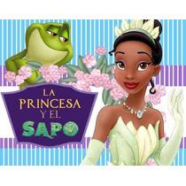 Kit Imprimible La Princesa Y El Sapo, Invitaciones Y Cajitas